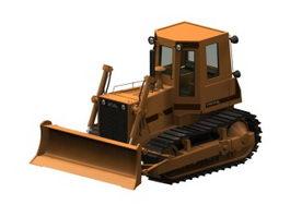 Crawler bulldozer 3d preview