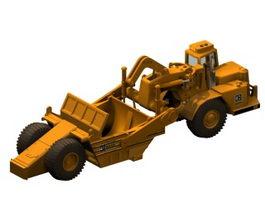 Wheel tractor-scraper 3d preview