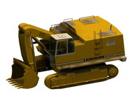 Liebherr excavator 3d preview