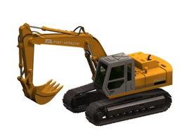 Hitachi excavator 3d preview
