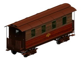 American railroad passenger car 3d preview