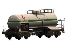 Railroad tank wagon 3d preview