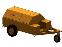 Airport mini-utility cart 3d model preview