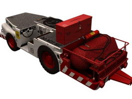 US carrier fire truck 3d model preview