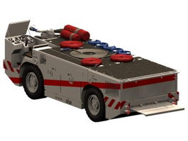 US aircraft carriers fire tractor 3d preview