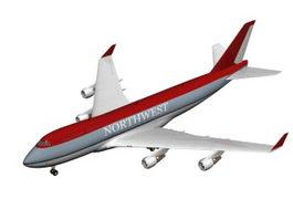 Northwest commercial airliner 3D Model