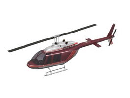 Medium helicopter 3d model preview