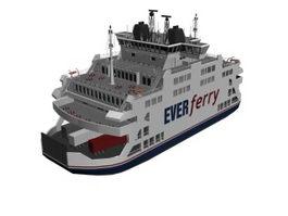 Ferry merchant ship 3d preview