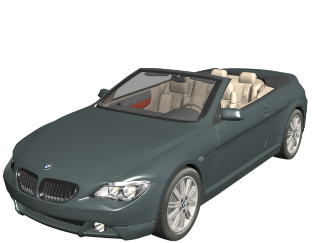 BMW 645Ci convertible 3d rendering