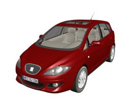 SEAT Toledo compact car 3d preview