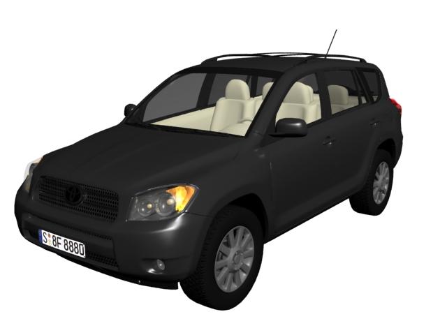 Toyota RAV4 compact SUV 3d rendering