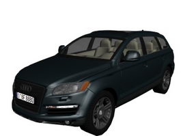 Audi Q7 luxury crossover SUV 3d preview