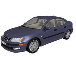 Saab 9-3 compact executive car 3d model preview