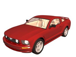 Ford Mustang pony car 3d preview