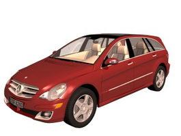 Mercedes-Benz R-Class luxury MPV 3d model preview
