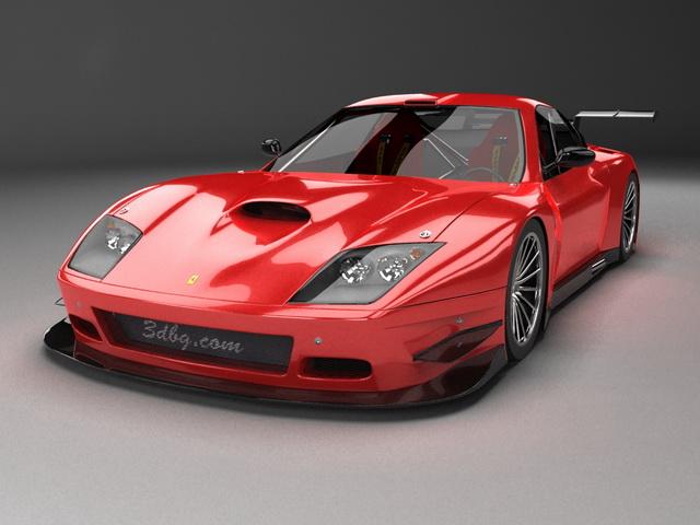 Ferrari 575M Maranello grand tourer 3d rendering