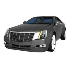 Cadillac CTS luxury sedan 3d model preview