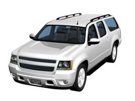 Cross-country station wagon 3d model preview