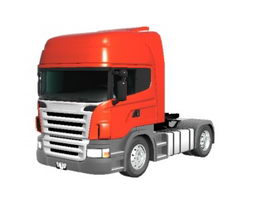 Scania heavy truck 3d preview