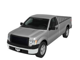 Ford F-150 pickup truck 3d model preview