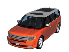 Ford Flex crossover SUV 3d preview