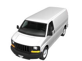GMC Savana cargo van 3d model preview