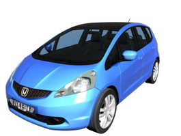 Honda Fit subcompact car 3d model preview