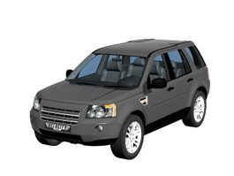 Landrover freelander compact SUV 3d model preview