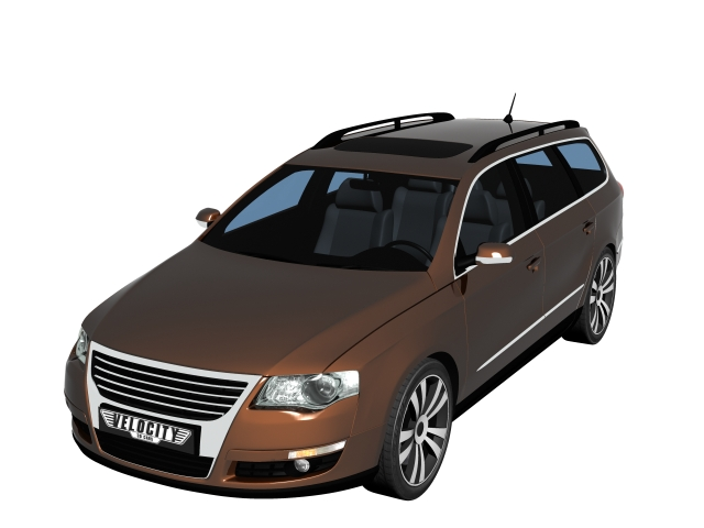 Volkswagen Passat Variant sedan car 3d rendering