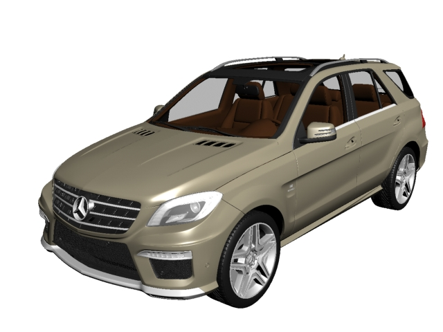 Mercedes-Benz ML63 AMG SUV 3d rendering