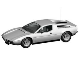 Maserati Merak sports car 3d preview