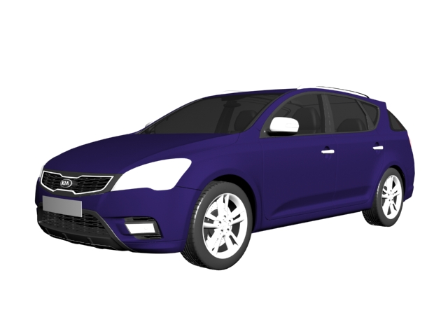Kia Ceed compact car 3d rendering