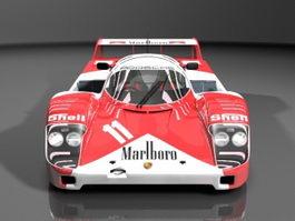 Porsche 956 prototype race car 3d model preview