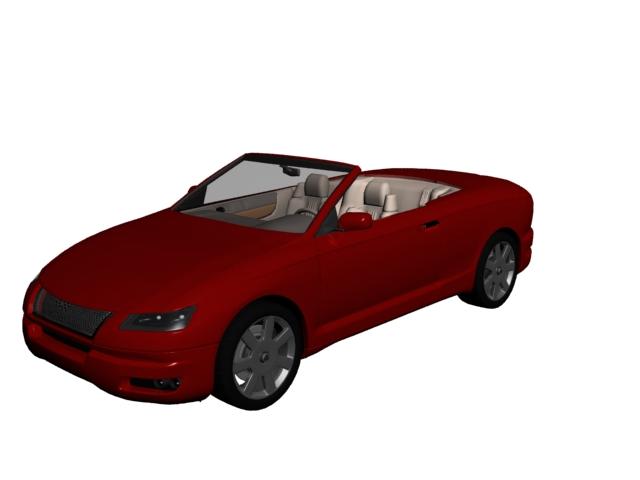 Coupe cabrio concept car 3d rendering