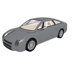 Two-seat modern roadster 3d model preview