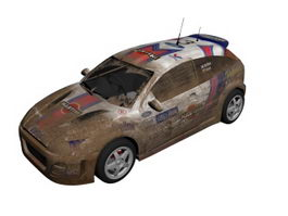 Ford Focus RS WRC racing car 3d model preview