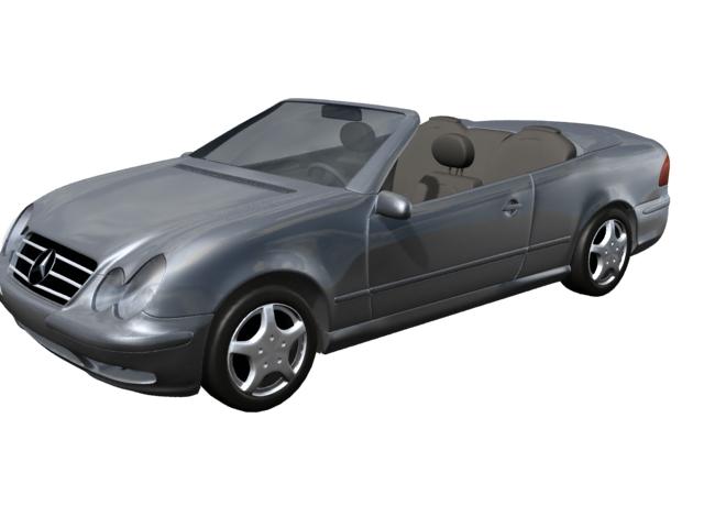 Mercedes-Benz CLK320 grand tourer 3d rendering