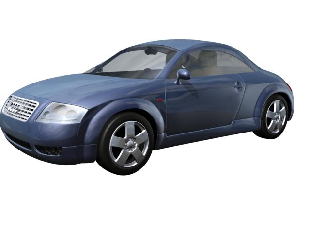 Audi TT 2-door roadster 3d rendering