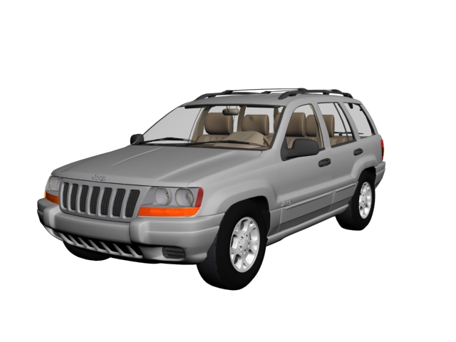 Jeep Grand Cherokee mid-size SUV 3d rendering
