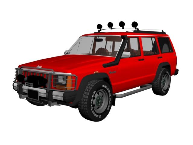 Jeep Grand Cherokee 4-door SUV 3d rendering