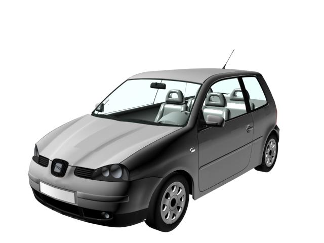 SEAT Arosa city car 3d rendering