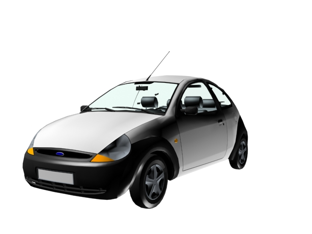 Ford Ka city car 3d rendering