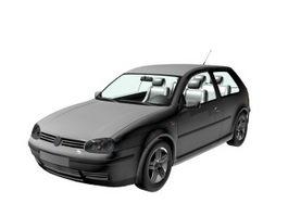 VW Golf 3-door compact car 3d preview
