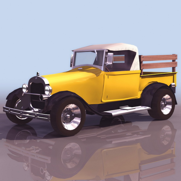 Ford 1929 Model AA truck 3d rendering