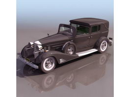 1940 Cadillac 90 Town Car 3d model preview