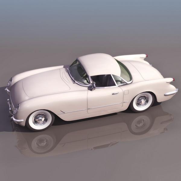 1954 Chevrolet Sport Coupe 3d rendering
