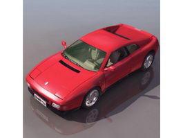 Ferrari 348 sports car 3d model preview
