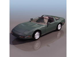 Chevrolet Corvette ZR-1 sports car 3d preview