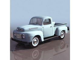 1950S Ford pickup truck 3d preview