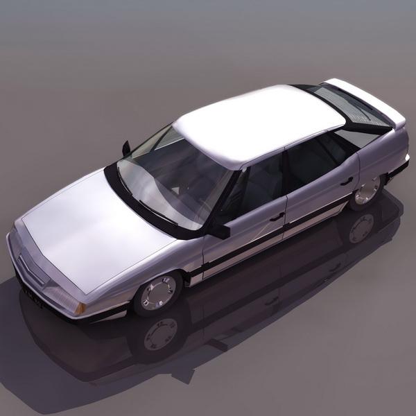 Citroen XM hatchback 3d rendering